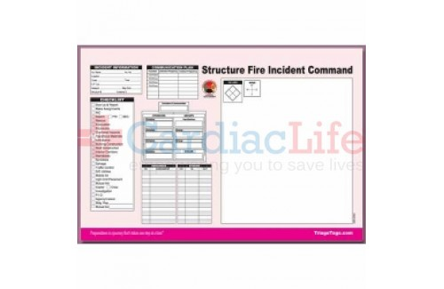 DMS-05564 Structure Fire Incident Command Worksheet Pad