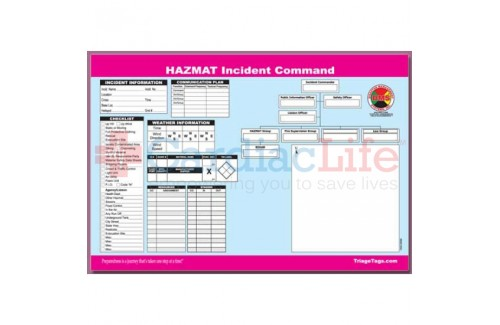 DMS-05566 HAZMAT Incident Command Worksheet Pad