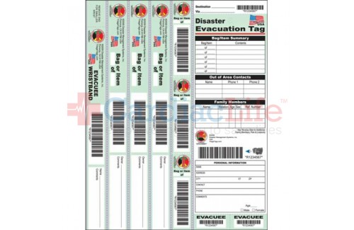 DMS-05582 Disaster Evacuation Tag