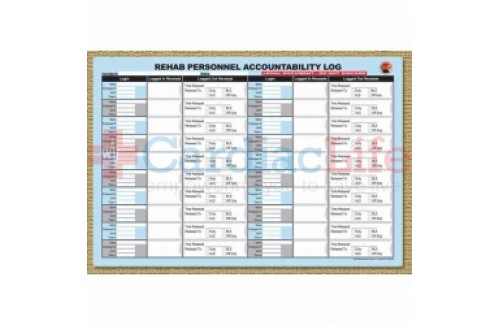 DMS-05699 REHAB Personnel Accountability Log Replacement Pad