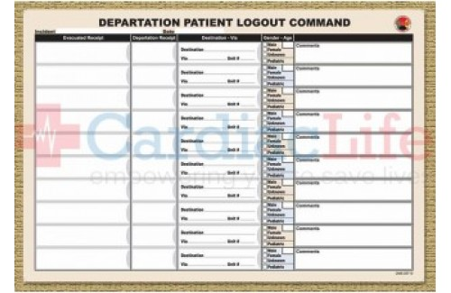 DMS-05710 Departation Logout Sheets 17 x 11.5 (Synthetic Paper, Pad of 25)