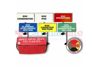 DMS-05760 EOC Flag Kit for Small Local Government - 6 Flags