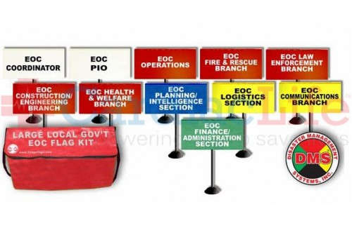 DMS-05761 EOC Flag Kit for Large Local Government - 11 Flags