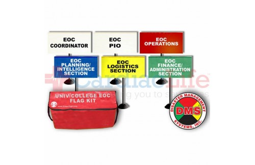 DMS-05779 EOC Tabletop Flag Kit for Universities/Colleges