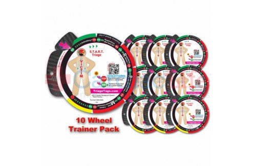 DMS-05930PK START Triage Trainer Wheel 10 Pk