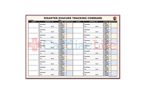 DMS-05506 Disaster Evacuee Tracking Command Sheet Refill Pad