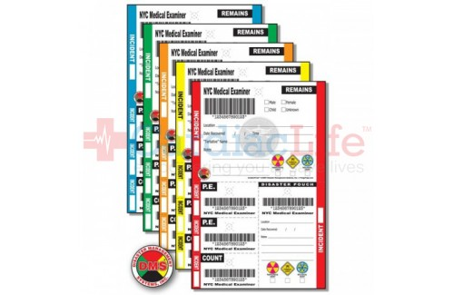 DMS-05407 IncidentTRAK Medical Examiner Tag - NYC (packs of 100)