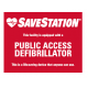 Public Access Defibrillator Entry Door Sticker