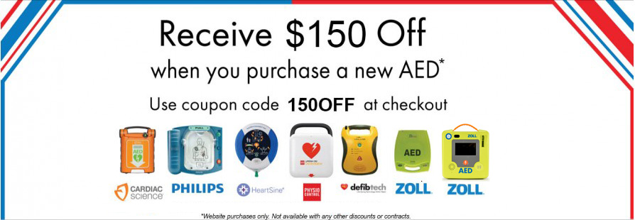 $150 Off New AED
