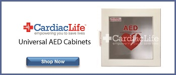 universal aed cabinet