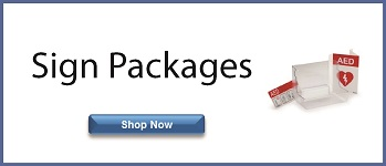AED sign packages